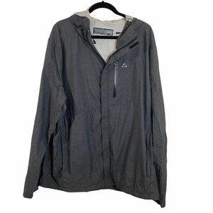 paradox windbreak gray zip up jacket  Size: XXL